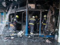 Leégett egy gyorsétterem Csepelen